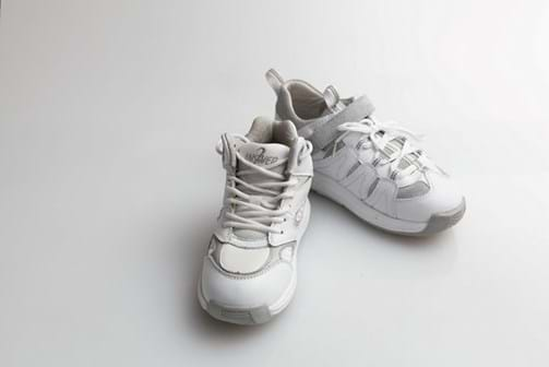 White High Top and Speed Lacer runners